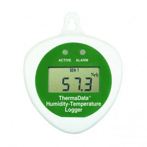 Registador de temperatura e humidade com LCD e sonda interna