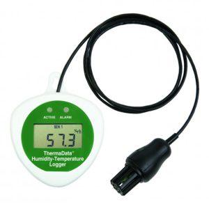 Registador de temperatura e humidade com LCD e com sonda externa